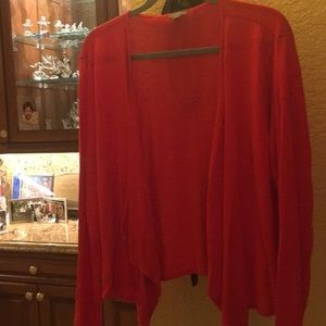 Great versatile comfortable soft red cardigan